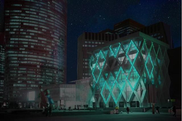 Glowee es una luz que puede ser facilmente integrada en el paisaje urbano. Fuente: Glowee